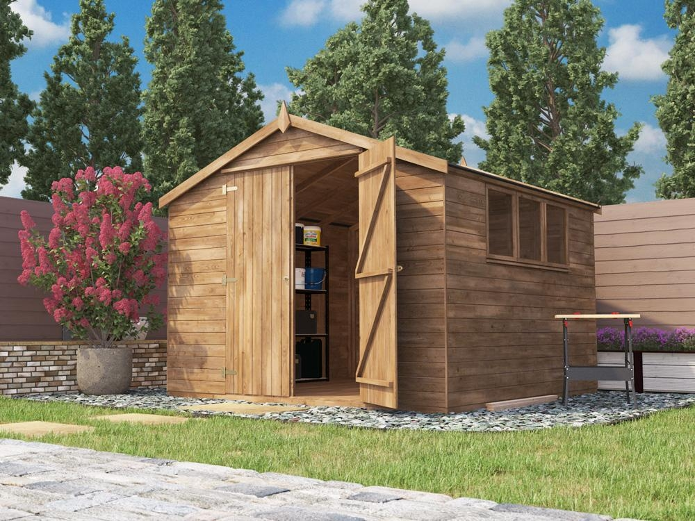 Latli Heavy Duty Pressure Treated Shed W3.05 x D3.05m