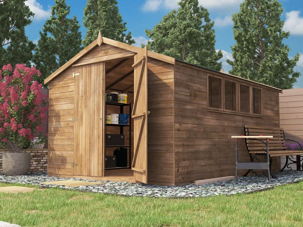 Latli Heavy Duty Pressure Treated Shed W3.05m x D4.2m