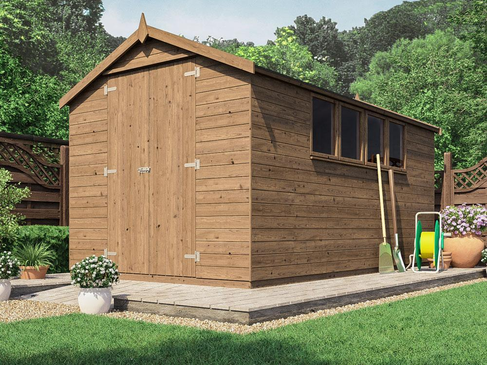 Birgi Heavy Duty Pressure Treated Shed W2.44m x D4.2m