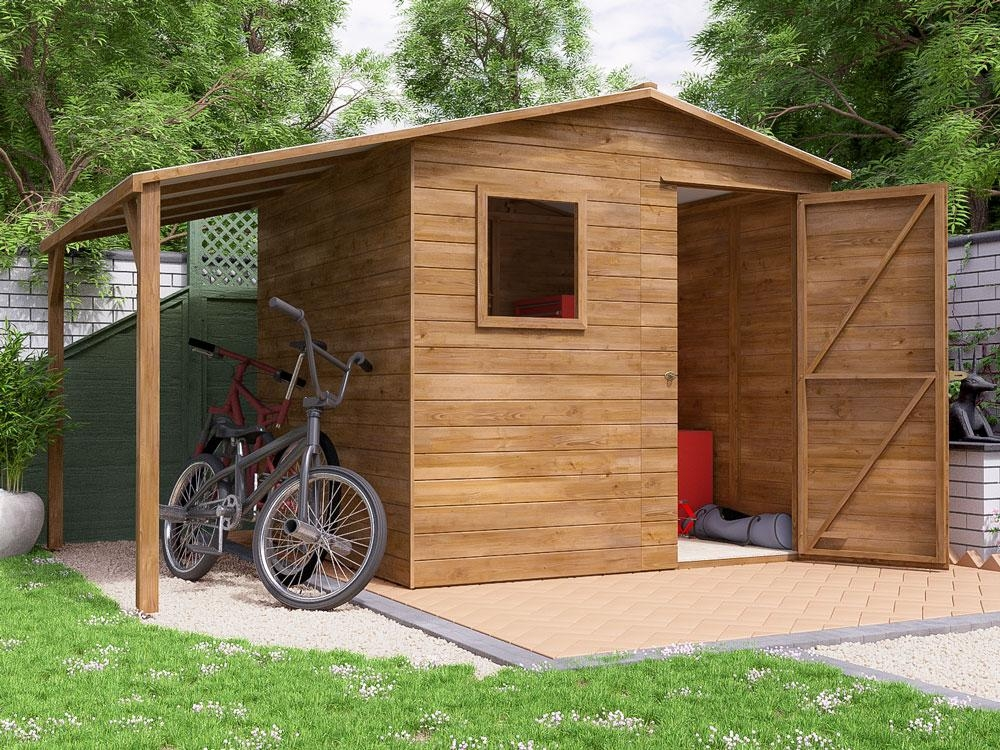 ThunderRoof Dick Heavy Duty Pressure Treated Shed W3.4m x D2.4m