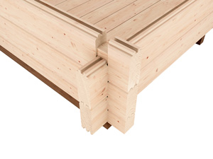 45mm Interlocking Logs Log Cabins