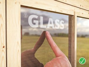 timber outbuilding toughened glass