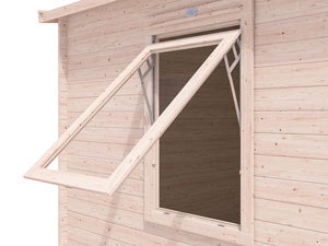 Wide Opening Windows Log Cabins