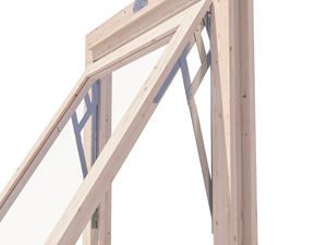 timber garden building friction hinges